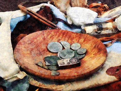 Photograph - Colonial Coins by Susan Savad