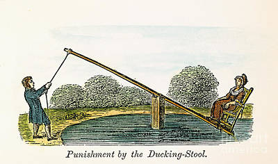 Colonial Ducking Stool Print by Granger