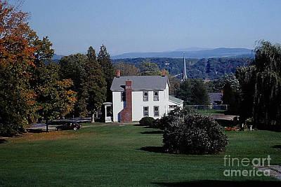 Photograph - Colonial Era Farmhouse Scoharie Ny by Merton Allen