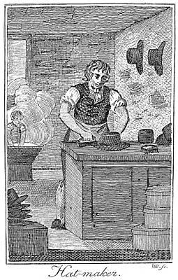 Colonial Hatter Art Print by Granger
