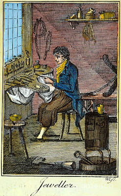 Colonial Man Photograph - Colonial Jeweller, 18th C by Granger
