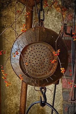 Photograph - Colonial Kitchen Drainer by John Stephens