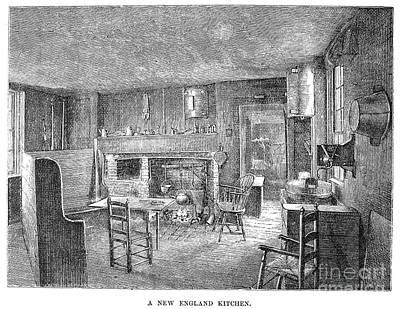 Colonial Kitchen Art Print
