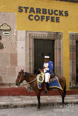 Photograph - Colonial Starbucks San Miguel De Allende Mexico by John  Mitchell