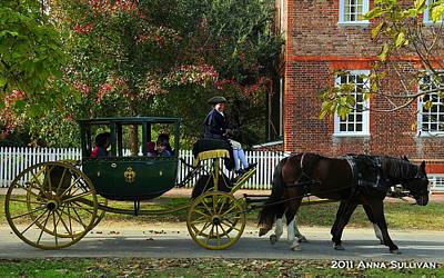 Colonial Williamsburg Carriage Art Print by Anna Sullivan