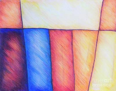 Color Block Art Print
