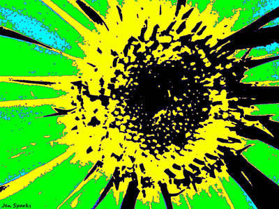 Mixed Media - Color Burn by Jen Sparks