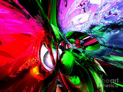 Color Carnival Abstract Art Print by Alexander Butler