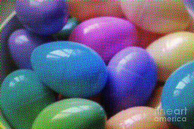 Photograph - Color Easter Eggs by Susan Stevenson