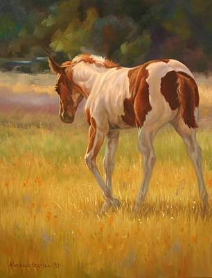 Color Foal Art Print by Kathleen  Hill