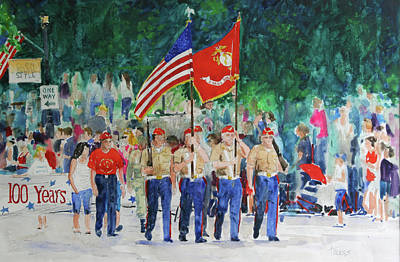 Color Guard Art Print by William Tockes