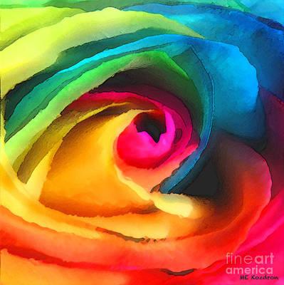 Color Launch Art Print by ME Kozdron