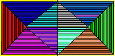 Color Lines Art Print by Rachael McIntosh