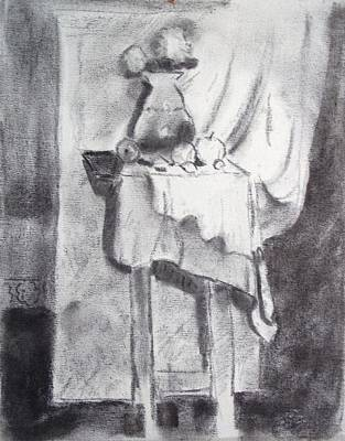 Table Cloth Drawing - Color Me by Bill Joseph  Markowski