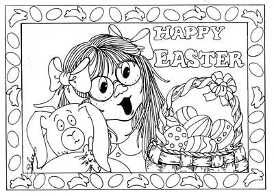 Color Me Card - Easter Art Print
