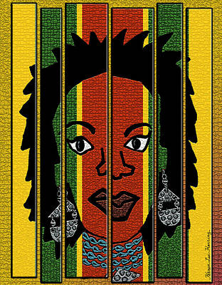 Jamaican Woman Painting - Color Me Rita by Karen-Lee