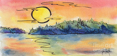 Painting - Color Me Sunset by Pat Katz