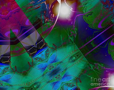 Digital Art - Color Modules Green-blue-lila by Eva-Maria Di Bella