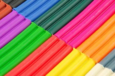 Plasticine Photograph - Color Plasticine by Igor Sinitsyn