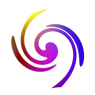 Color Spiral Art Print by Steve K