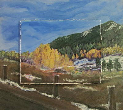 Mixed Media - Colorado Almost Winter by Anita Burgermeister