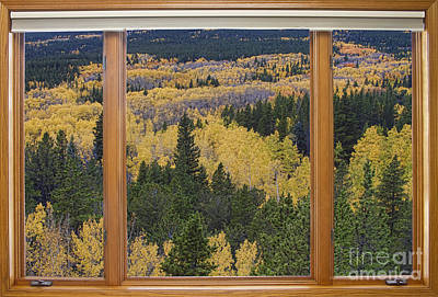 Colorado Autumn Picture Window Frame Art Photos Art Print by James BO  Insogna