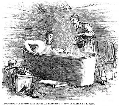 Bathhouse Photograph - Colorado Bathhouse, 1879 by Granger
