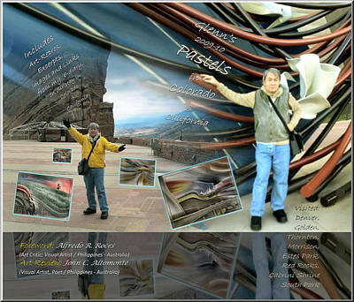 Colorado-california Art Book Cover Art Print by Glenn Bautista