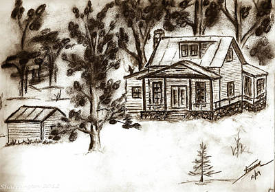 Drawing - Colorado Country by Shannon Harrington