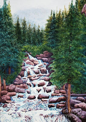 Colorado Falls Art Print by Vikki Wicks