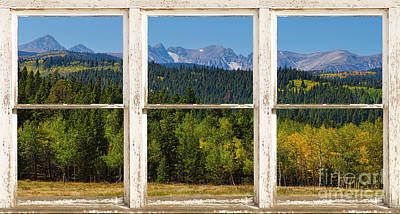 Colorado Indian Peaks Autumn Rustic Window View Art Print by James BO  Insogna