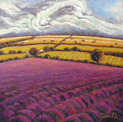 Wall Art - Painting - Colorado Lavender Country by Gina Grundemann