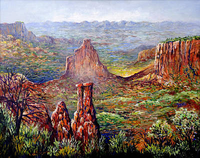 Painting - Colorado National Monument by Lou Ann Bagnall
