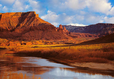 Colorado River At Fisher Towers Art Print by Utah Images