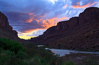 Colorado River Sunset Original by Adam Pender