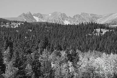 Photograph - Colorado Rocky Mountain Continental Divide View Bw by James BO Insogna