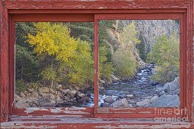 Colorado St Vrain Canyon Red Rustic Picture Window Frame Photos  Print by James BO  Insogna