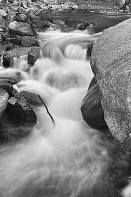 Colorado St Vrain River Trance Bw Print by James BO  Insogna