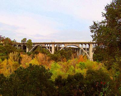 Digital Art - Colorado Street Bridge No. 1 by Timothy Bulone