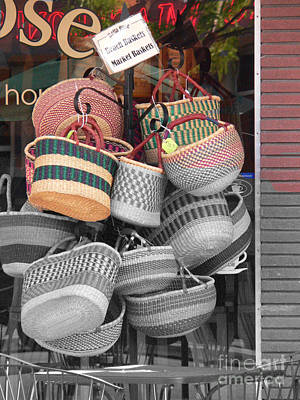 Colored Baskets Art Print by David Bearden
