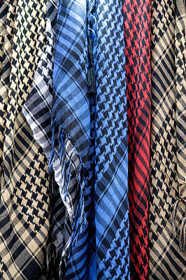Photograph - Colored Palestinian Keffiyeh by Fabrizio Troiani