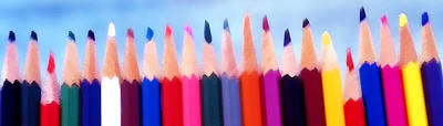 In A Row Mixed Media - Colored Pencils - Horizontal by Steve Ohlsen