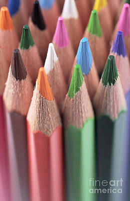 Photograph - Colored Pencils 3 by Neil Overy
