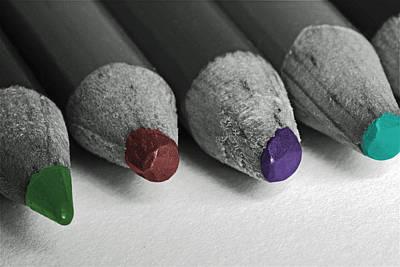 Colored Pencils Art Print by Bill Owen