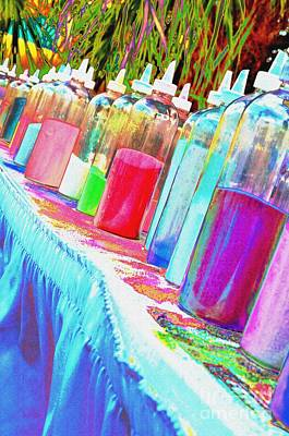 Photograph - Colored Sand Bottles by Lynda Dawson-Youngclaus