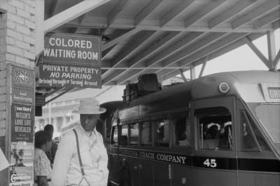 Jim Crow South Photograph - Colored Waiting Room Sign. African by Everett