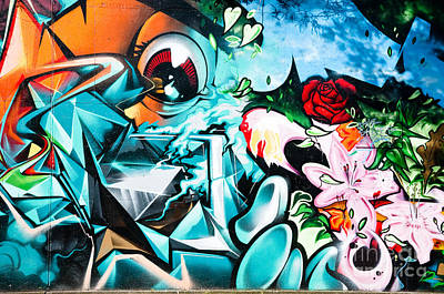 Vandalize Painting - Colorful Abstract Graffiti Wall by Yurix Sardinelly