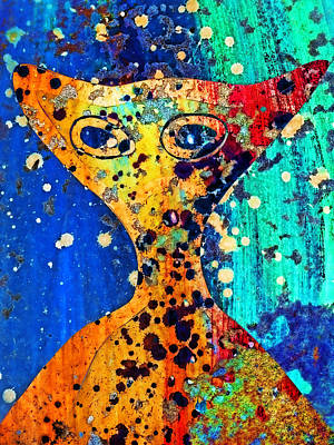 Extraterrestrial Photograph - Colorful Alien by Carol Leigh