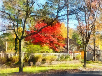 Photograph - Colorful Autumn Street by Susan Savad