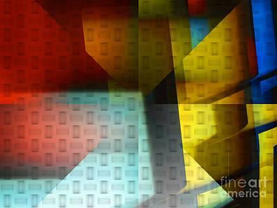 Unreal Digital Art - Colorful Background by Yali Shi